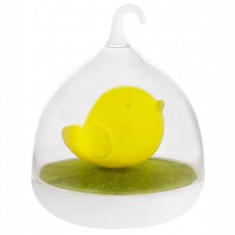 GLOBO 28038Y | Ampato Globo stolové svietidlo 17cm dotykový prepínač s reguláciou svetla regulovateľná intenzita svetla, USB prijímač 4x LED žltá, biela, zelená