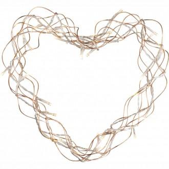 GLOBO 28200 | Heart Globo dekor svietidlo 30x LED mosadz