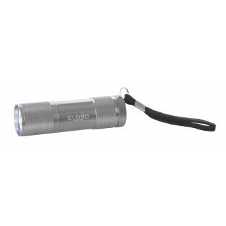 GLOBO 31903 | Flashlight Globo prenosné svietidlo prepínač batérie/akumulátorové 9x LED 43lm hliník, čierna