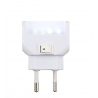 GLOBO 31908 | Chaser Globo nočné svetlo svietidlo prepínač konektorové svietidlo 4x LED 21lm 6400K biela