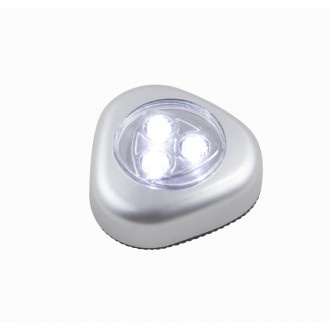 GLOBO 31909 | Flashlight Globo nočné svetlo svietidlo prepínač batérie/akumulátorové 3x LED 20lm strieborný