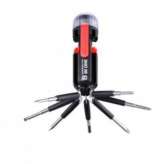 GLOBO 31912 | Multi-Tool Globo prenosné baterka prepínač 4x LED čierna, červená, priesvitné