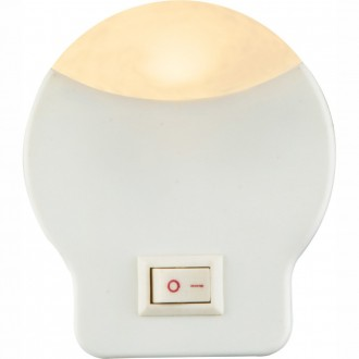 GLOBO 31932 | Enio-I Globo nočné svetlo svietidlo prepínač konektorové svietidlo 1x LED 3lm 3000K biela
