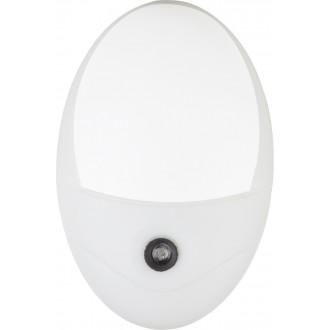 GLOBO 31934W | Enio Globo nočné svetlo svietidlo svetelný senzor - súmrakový spínač konektorové svietidlo 4x LED 18lm 6500K biela