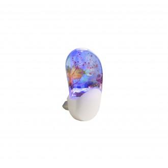 GLOBO 31937 | Enio Globo nočné svetlo svietidlo pohybový senzor, svetelný senzor - súmrakový spínač konektorové svietidlo 3x LED RGBK biela, viacferebné