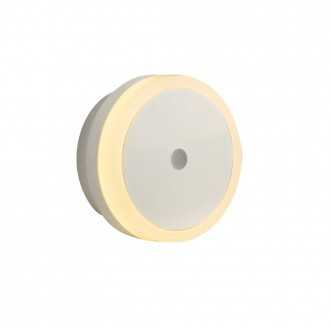 GLOBO 31938 | Enio-II Globo nočné svetlo svietidlo svetelný senzor - súmrakový spínač konektorové svietidlo 4x LED sivé, biela