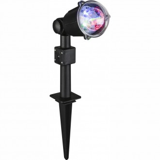 GLOBO 32000 | Meriton Globo zapichovacie svietidlo 3x LED IP44 čierna
