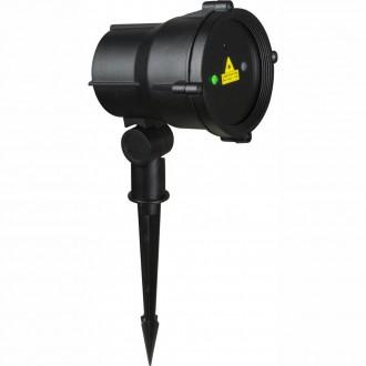 GLOBO 32002 | Tammes-Laser Globo zapichovacie svietidlo diaľkový ovládač 1x Laser IP65 čierna