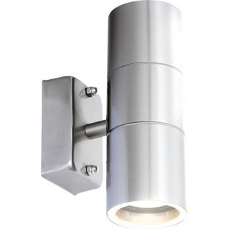GLOBO 3201-2L | Style Globo rameno stenové svietidlo 2x GU10 840lm 3000K IP44 oceľové, opál