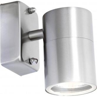 GLOBO 3201L | Style Globo rameno stenové svietidlo 1x GU10 420lm 3000K IP44 oceľové, opál