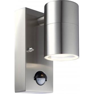 GLOBO 3201SL | Style Globo rameno stenové svietidlo pohybový senzor 1x GU10 420lm 3000K IP44 oceľové, opál