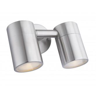 GLOBO 3207-2L | Style Globo rameno stenové svietidlo otočné prvky 2x GU10 840lm 3000K IP44 oceľové, opál