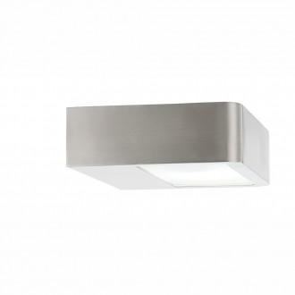 GLOBO 32122 | Vega-I Globo stenové svietidlo navrhované na úsporné žiarovky 1x E27 IP44 zušľachtená oceľ, nehrdzavejúca oceľ