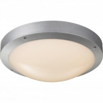 GLOBO 32145 | Maurus Globo stropné svietidlo 1x LED 860lm 3000K IP44 sivé, opál