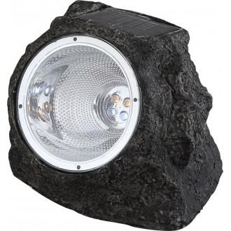 GLOBO 3302 | Soglo15 Globo tvar kameňa svietidlo slnečné kolektorové / solárne 4x LED IP44 sivé