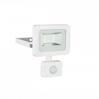 GLOBO 34002S | Callaqui Globo svetlomet svietidlo pohybový senzor otočné prvky 1x LED 550lm 6000K IP44 biela, priesvitné