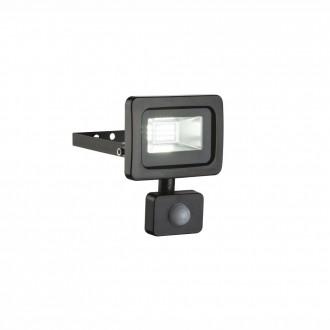 GLOBO 34003S | Callaqui Globo svetlomet svietidlo pohybový senzor otočné prvky 1x LED 550lm 6000K IP44 čierna, priesvitné