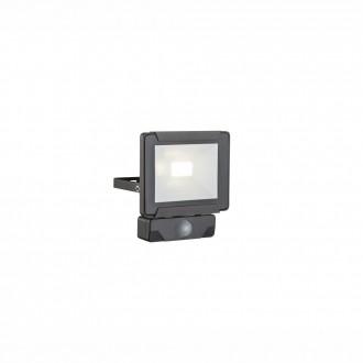 GLOBO 34009S | Urmia Globo svetlomet svietidlo pohybový senzor otočné prvky 1x LED 800lm 4000K IP44 čierna