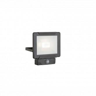 GLOBO 34010S | Urmia Globo svetlomet svietidlo pohybový senzor otočné prvky 1x LED 1600lm 4000K IP44 čierna