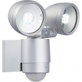 GLOBO 34105-2S | Radiator-II Globo svetlomet svietidlo pohybový senzor otočné prvky 2x LED 660lm 6500K IP44 hliník, priesvitné