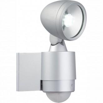 GLOBO 34105S | Radiator-II Globo svetlomet svietidlo pohybový senzor otočné prvky 1x LED 240lm 6500K IP44 strieborný, priesvitné