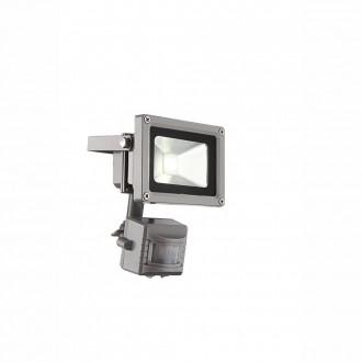 GLOBO 34107S   Radiator_IV Globo svetlomet svietidlo pohybový senzor otočné prvky 1x LED 550lm 6400K IP44 sivé, priesvitné