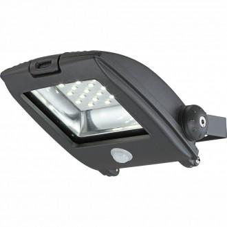 GLOBO 34218S | Projecteur-I Globo svetlomet svietidlo pohybový senzor otočné prvky 1x LED 750lm 6500K IP65 tmavo sivé, priesvitné