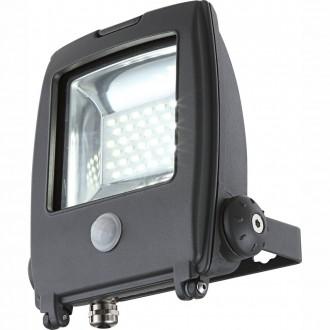 GLOBO 34219S   Projecteur_I Globo svetlomet svietidlo pohybový senzor otočné prvky 1x LED 1500lm 6500K IP65 tmavo sivé, priesvitné