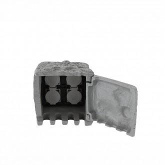 GLOBO 37001-4 | Globo zásuvka tvar kameňa IP44 sivé