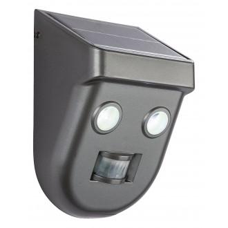 GLOBO 3728S | Solar-G Globo svetlomet svietidlo pohybový senzor slnečné kolektorové / solárne 2x LED 192lm 6500K IP65 antracit