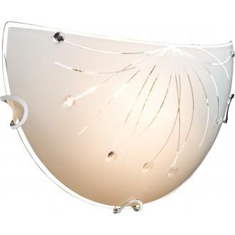 GLOBO 40402W | Calimero-I Globo stenové svietidlo 1x E27 chróm, biela, priesvitné