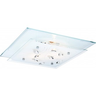 GLOBO 40408-2 | Jasmina Globo stropné svietidlo 2x E27 chróm, zrkalový, opál