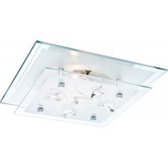 GLOBO 40408 | Jasmina Globo stropné svietidlo 1x E27 chróm, zrkalový, opál