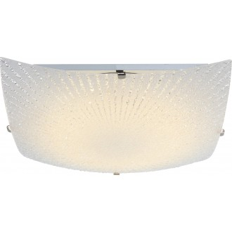 GLOBO 40449 | Vanilla Globo stropné svietidlo 1x LED 900lm 3500K matný nikel, biela, priesvitné