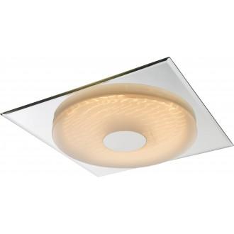 GLOBO 41334   Treviso-I Globo stropné svietidlo diaľkový ovládač regulovateľná intenzita svetla, nastaviteľná farebná teplota 1x LED 2000lm 3000 <-> 6400K zrkalový, biela, 3D effect