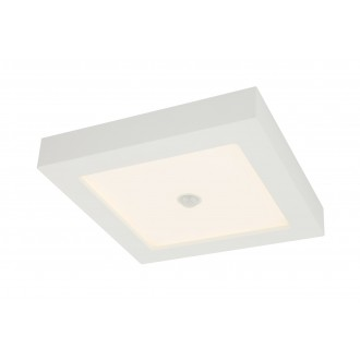 GLOBO 41606-18S | Paula-Svenja Globo stropné svietidlo pohybový senzor 1x LED 1900lm 3000K IP44/20 biela, opál