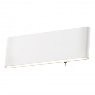GLOBO 41751-8W | Siegfried Globo stenové svietidlo prepínač 1x LED 500lm 4000K biela, opál