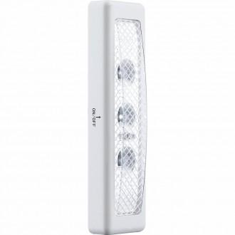 GLOBO 42422 | Spooky Globo stenové svietidlo prepínač 3x LED 12lm 10000K strieborný