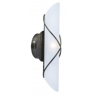 GLOBO 44137-1 | Rania Globo rameno stenové svietidlo 1x E14 antická čierna, opál