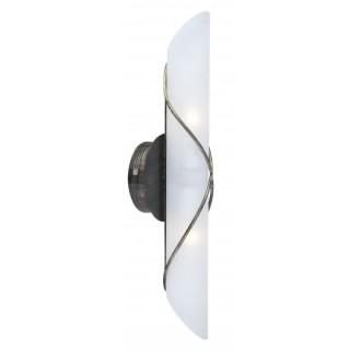 GLOBO 44137-2 | Rania Globo rameno stenové svietidlo 2x E14 antická čierna, opál