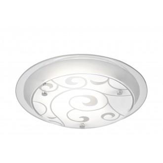 GLOBO 48060 | Kristjana Globo stropné svietidlo 1x E27 chróm, biela metalíza, zrkalový