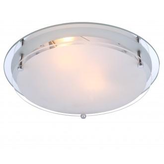 GLOBO 48167-2 | Indi Globo stropné svietidlo 2x E27 chróm, biela, zrkalový