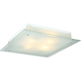 GLOBO 48321 | Qadro Globo stenové, stropné svietidlo 2x E27 chróm, priesvitné, saténový
