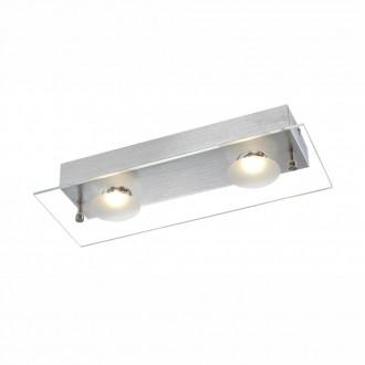 GLOBO 49200-2 | Berto Globo stenové svietidlo 2x LED 810lm 3000K hliník, priesvitné, biela