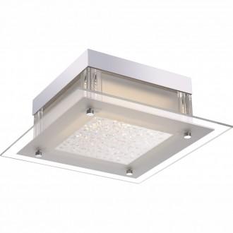 GLOBO 49310 | Leah Globo stropné svietidlo 1x LED 1190lm 4000K chróm, biela, priesvitné