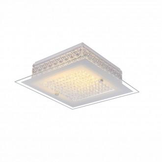 GLOBO 49349 | Heidir Globo stropné svietidlo 1x LED 1030lm 3100K chróm, biela, priesvitné