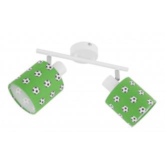 GLOBO 54009-2 | Lemmi Globo stenové, stropné svietidlo otočné prvky 2x E14 zelená, biela, čierna