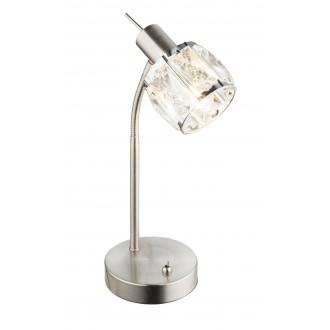 GLOBO 54356-1T | Kris-Indiana-Mero Globo stolové svietidlo prepínač flexibilné 1x E14 chróm, matný nikel, priesvitné