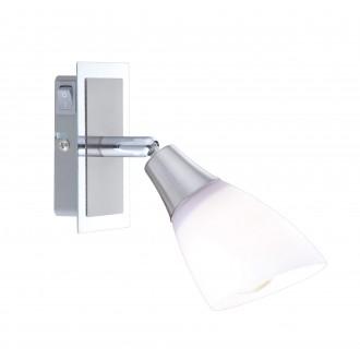 GLOBO 5450-1 | Frank Globo spot svietidlo prepínač otočné prvky 1x E14 chróm, matný nikel, opál