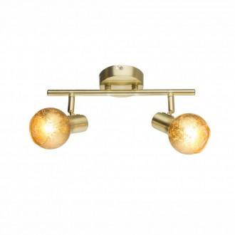 GLOBO 54841-2 | Tigre-Zacate Globo stenové, stropné svietidlo otočné prvky 2x E14 matný zlatý, zlatý